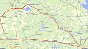 Примерный маршрут поездки